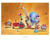 Children's Art - Signed, Limited Edition giclée print. - ' To The Party' (Small)