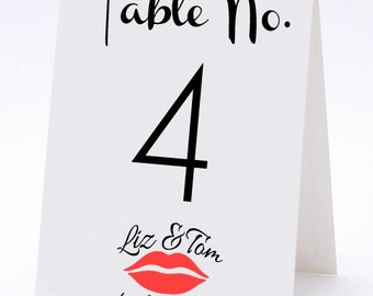 Vintage Calligraphy Wedding Table Numbers- THE HILARY