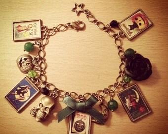 Vintage Halloween Unique Beautiful handmade charm bracelet