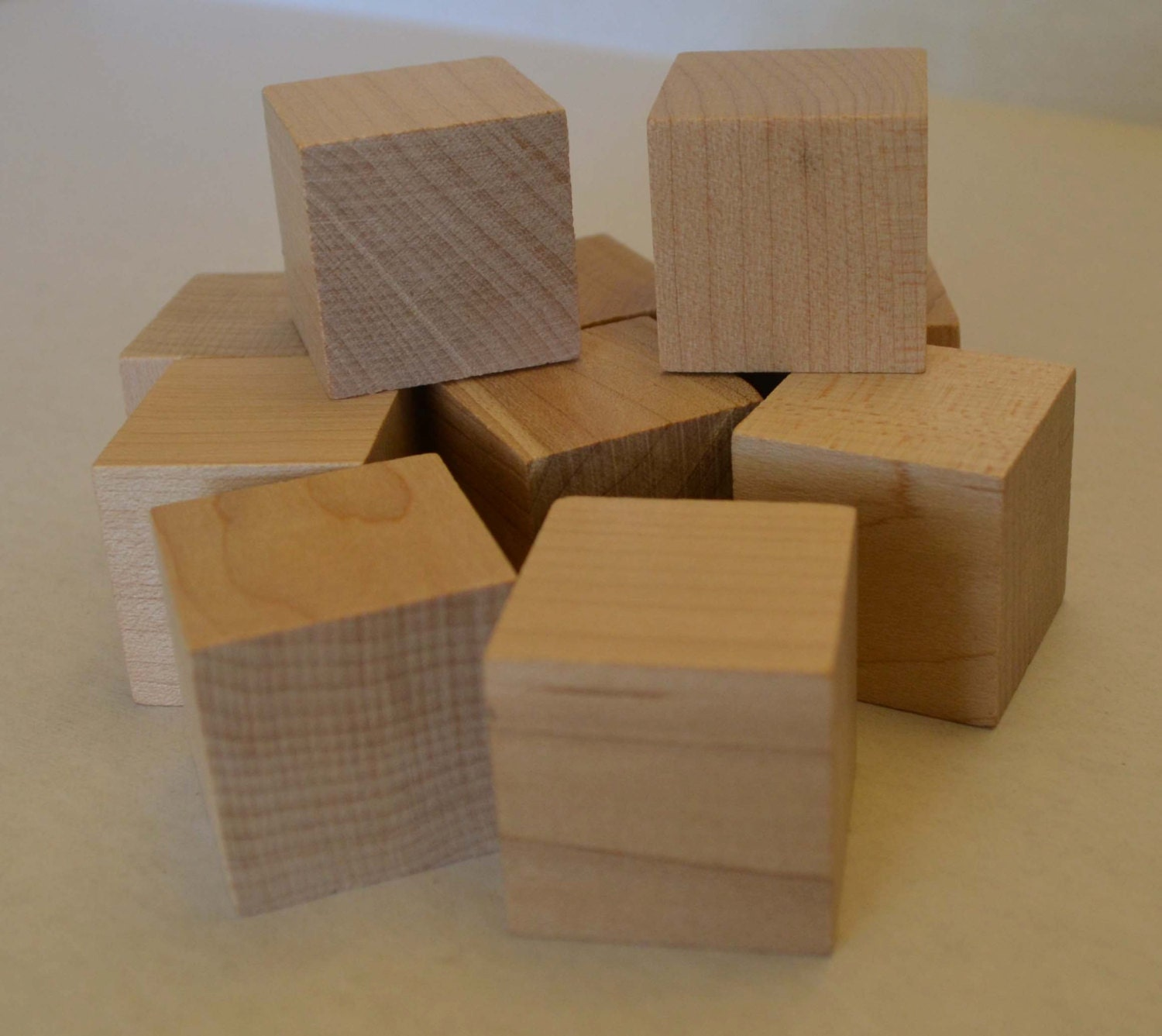 1 solid wood blocks set of 10 unfinished wood cube for Unfinished wood pieces for crafts