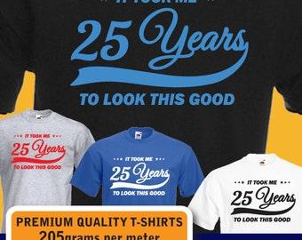 mens womens birthday vintage t shirt funny 25th birthday present gift idea 1992