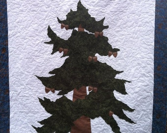 Evergreen - Pine Family Tree Quilt Lap Size