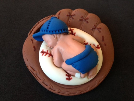 Baseball Baby Shower Cake Toppers