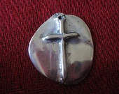 925 sterling silver Cross pendant or dog tag, Pendant with cross, Cross, dog tag