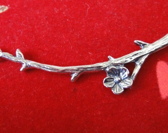 925 sterling silver branch charm connector, silver branch connector, silver  branch, branch charm, connector,