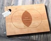 Venn Diagram - Custom Engraved Wood Cutting Board
