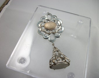 Silver and Gold Tone Lapel Brooch