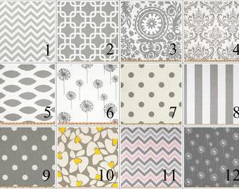 Grey Lumbar Pillow Cover - 12 x 16 or 12 x 18 Inch Grey Lumbar Throw Pillow - Grey Lumbar Pillow - Lumbar Pillow