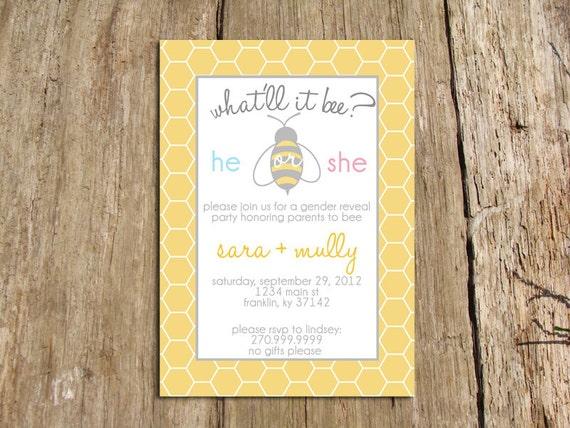 Bee Invitations Baby Shower with beautiful invitation ideas