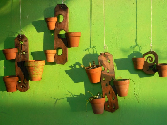 Hanging Wooden Plant Holders
