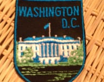 Washington D.C. Vintage Travel Patch by Voyager