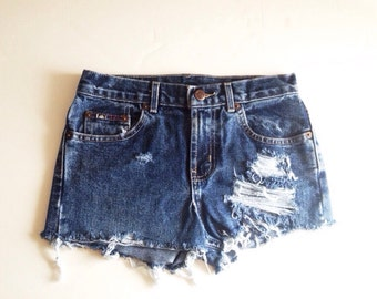 Women's lei distressed high waisted shorts size 24