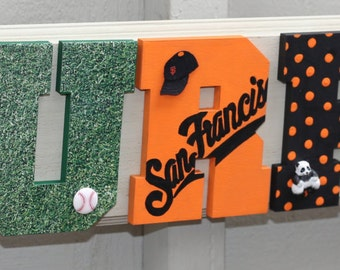 San Francisco Giants Plaque - Customize Name, Colors and Players. All Teams Welcome!