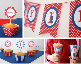 Star&Stripes Party kit first birthday