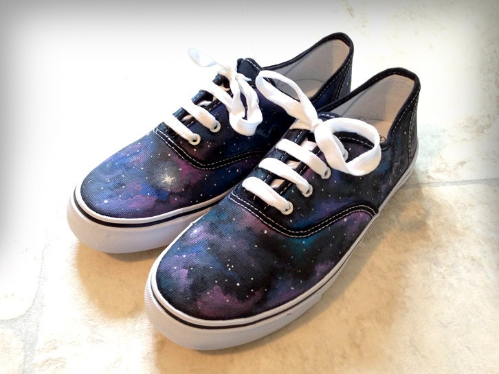 items similar to custom galaxy canvas shoes style of vans