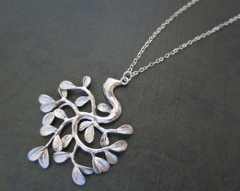 Tree Necklace in STERLING SILVER CHAIN--Everyday Necklace-Perfect Gift for mom for friends Birthday Present for her for friends