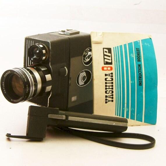 vintage yashica up super 8 movie camera and lens for 8mm film. Black Bedroom Furniture Sets. Home Design Ideas