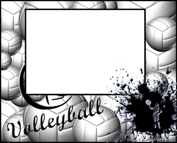 items similar to 8x10 volleyball picture frame on etsy