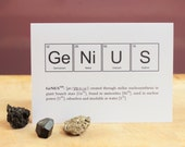 Humourous Nerd or Genius Periodic Table of Elements Greeting Cards - NewtonAndTheApple