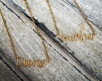 Personalized Wire Necklace