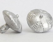 Replica Tudor Pewter Thread Cross Buttons for Renaissance/Elizabethan Reenactment