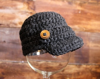 Knit Newsboy Hat - Newsgirl Hat - Sizes Newborn to Child -- baby infant toddler newsboy cap photo prop crochet photography prop