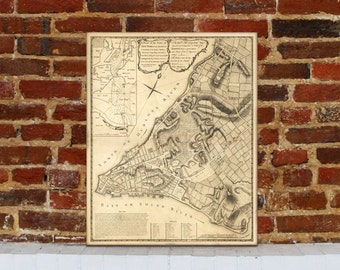 1775 New York Vintage Map Canvas Print