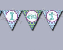 Monsters Inc 1st Birthday High Chair Banner - printable - Instant Download