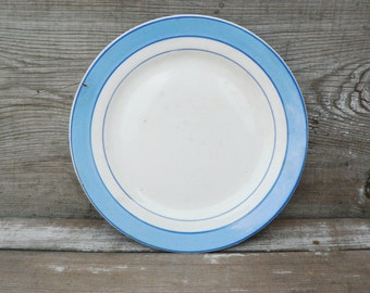 Vintage porcelain plate. Made in USSR.