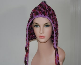No: 11 Freeform crochet hat, wearable art, OOAK