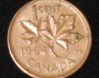 CANADA One Cent 1964     -10-