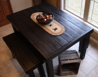 unique primtiques beautiful primitive black pub style tall kitchen table custom sizes colors available - Primitive Kitchen Tables