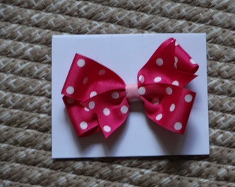 """Toddler's/Girl's Hair Bow, Double Boutique Style 4"""" Bow,,,,"""