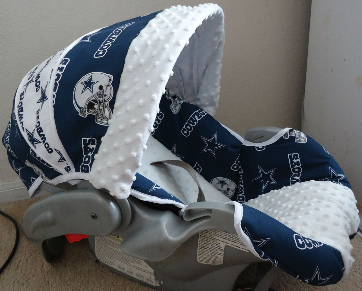 Items Similar To Baby Car Seat Cover Made With Dallas