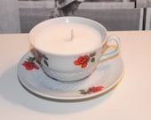 Small Poppy Teacup Candle