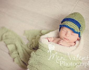 Crochet Newborn baby boy newsie newsboy hat Custom made to order any color