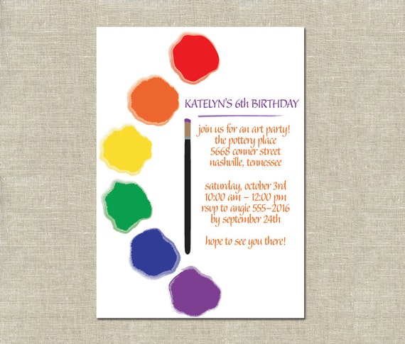 Painting Party Invitation Template Free Printable Invitation - Paint party invitation template free