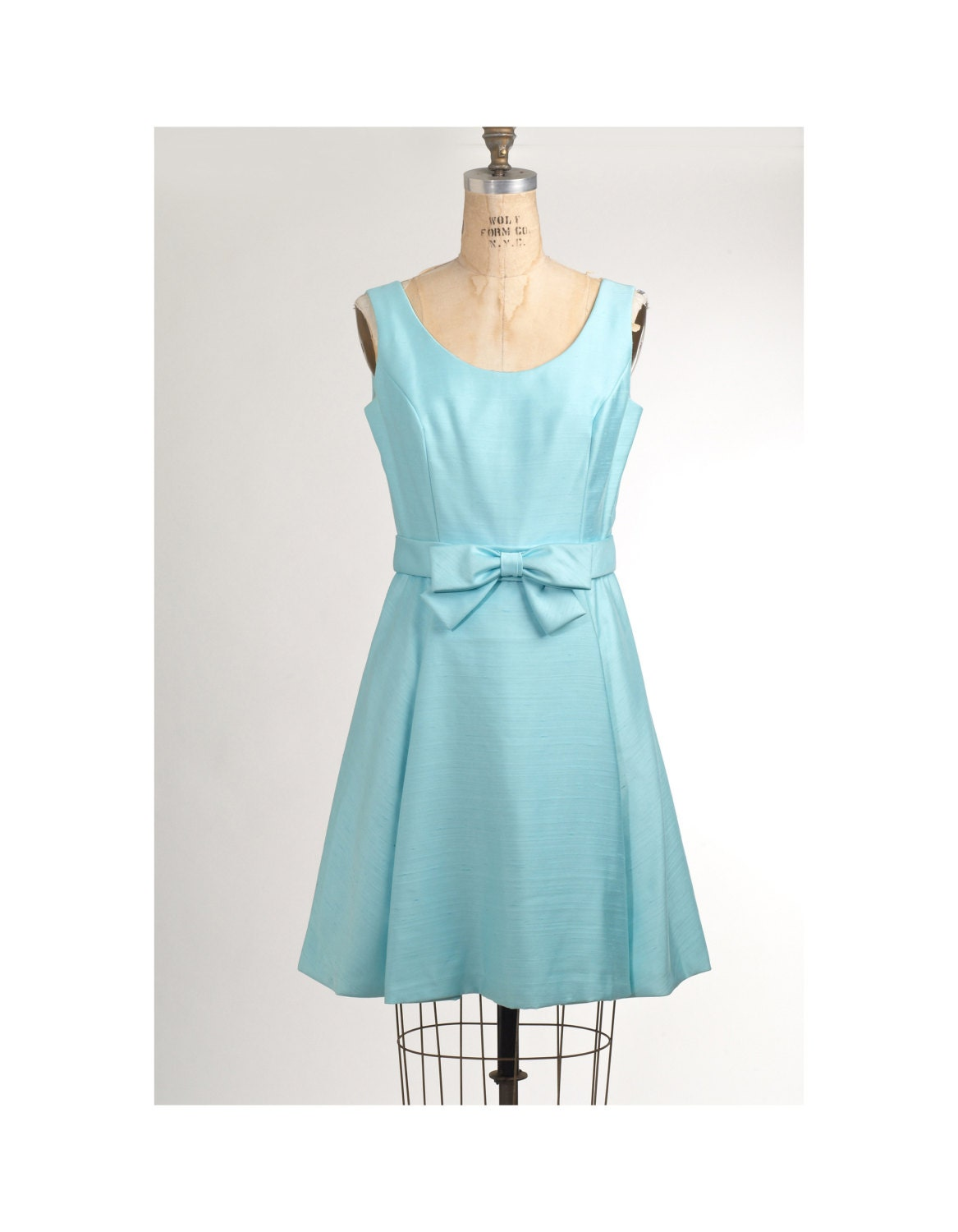 1960's Tiffany Blue Bridesmaid Dress