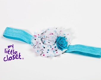 Blue and White Headband
