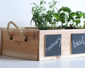 Indoor Outdoor Herb Garden with Chalkboard Placards - MeriwetherOfMontana