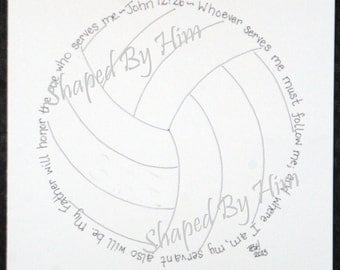 Volleyball - John 12:26 - 8x10