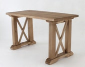 Reclaimed Wood Dining Table / Desk 50X24 in Barn Wood Finish Titan - LMFurniture