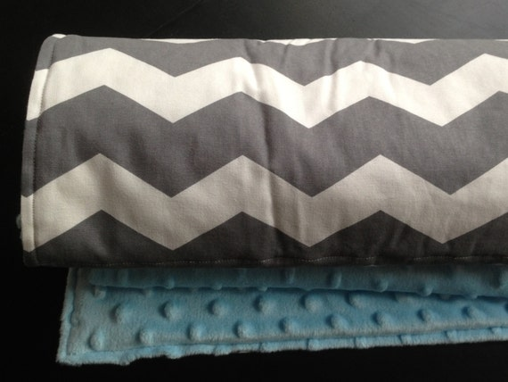 Chevron Baby Blanket - 3 sizes avail