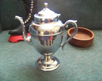 Vintage Silver Plated Old Coffee Pot.