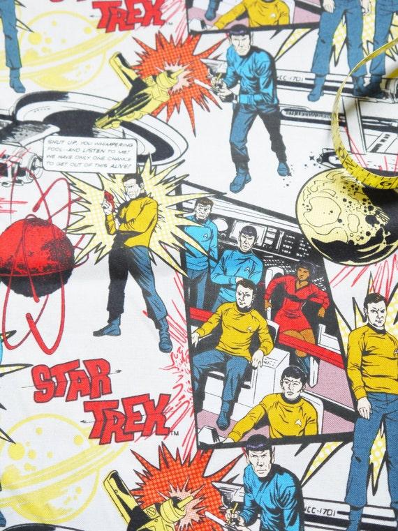 Comic Book Cartoon Star Trek Captain Kirk Lt Uhura By -6365