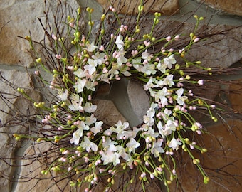 Spring Wreath, Easter Wreath, Mother's Day Wreath, Pink Wreath, Door Wreath, Summer Wreath, Twig Wreath