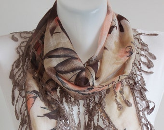 SAHRASCARF/ Cotton Scarf Shawl Lace Cowl Scarf WomenScarf Soft Shawl Cowl Scarf