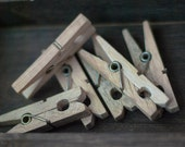 Vintage Clothespins - Natural Wood Clothespins, Standard Size - Set of 6 - OldTimeStories
