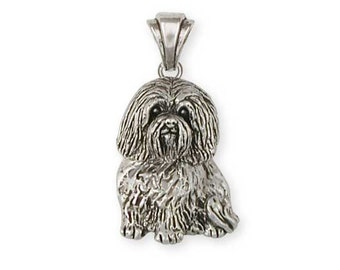 Solid Sterling Silver Havanese Pendant Jewelry  HV4-P