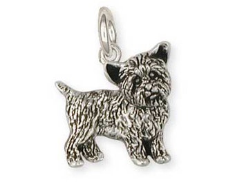 Solid Sterling Silver Yorkshire Terrier Yorkie Charm Jewelry  YK24-C